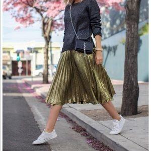 Zara Metallic Gold Skirt